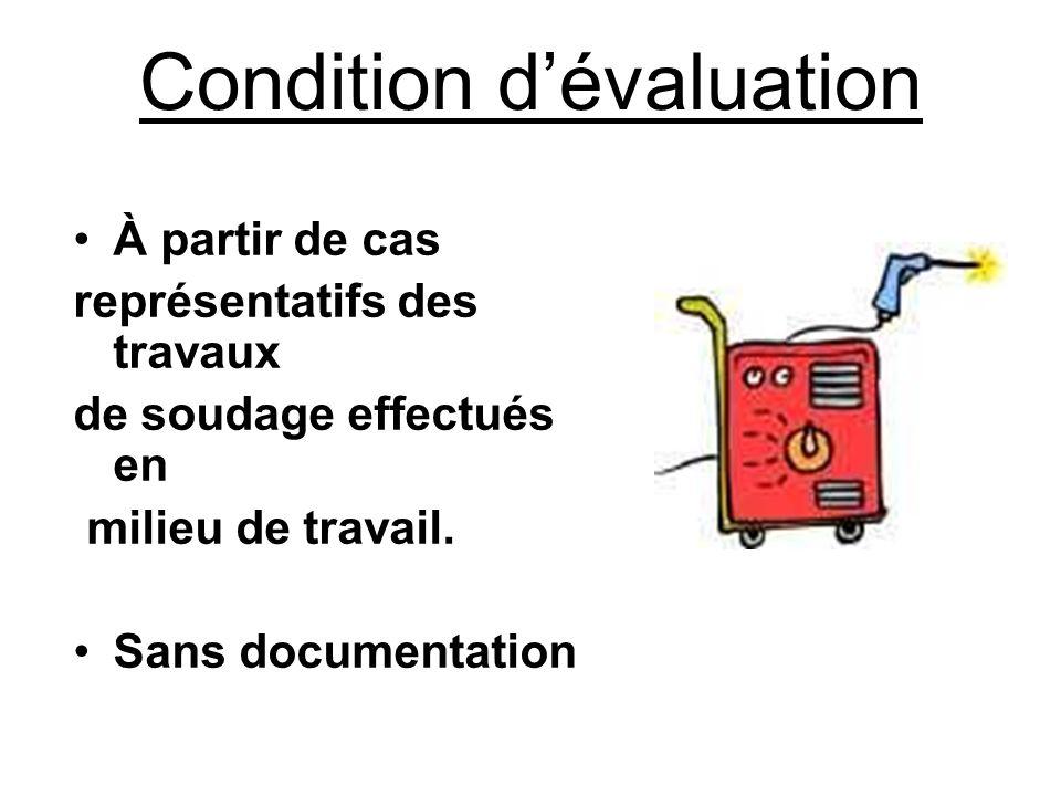 Condition d'évaluation »Individuellement.