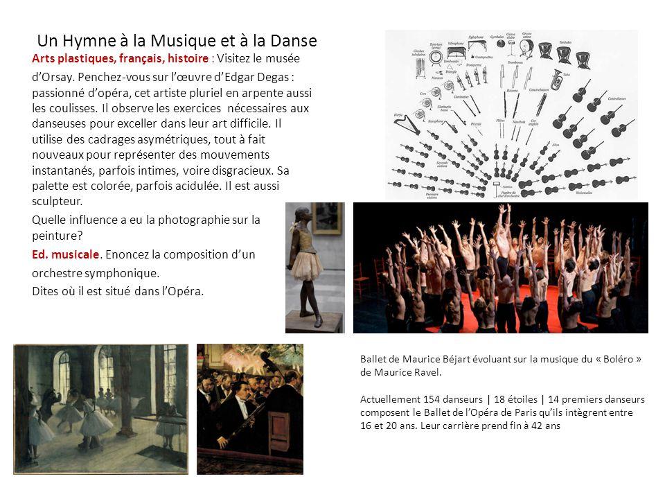 Un Hymne à la Musique et à la Danse Arts plastiques, français, histoire : Visitez le musée d'Orsay. Penchez-vous sur l'œuvre d'Edgar Degas : passionné