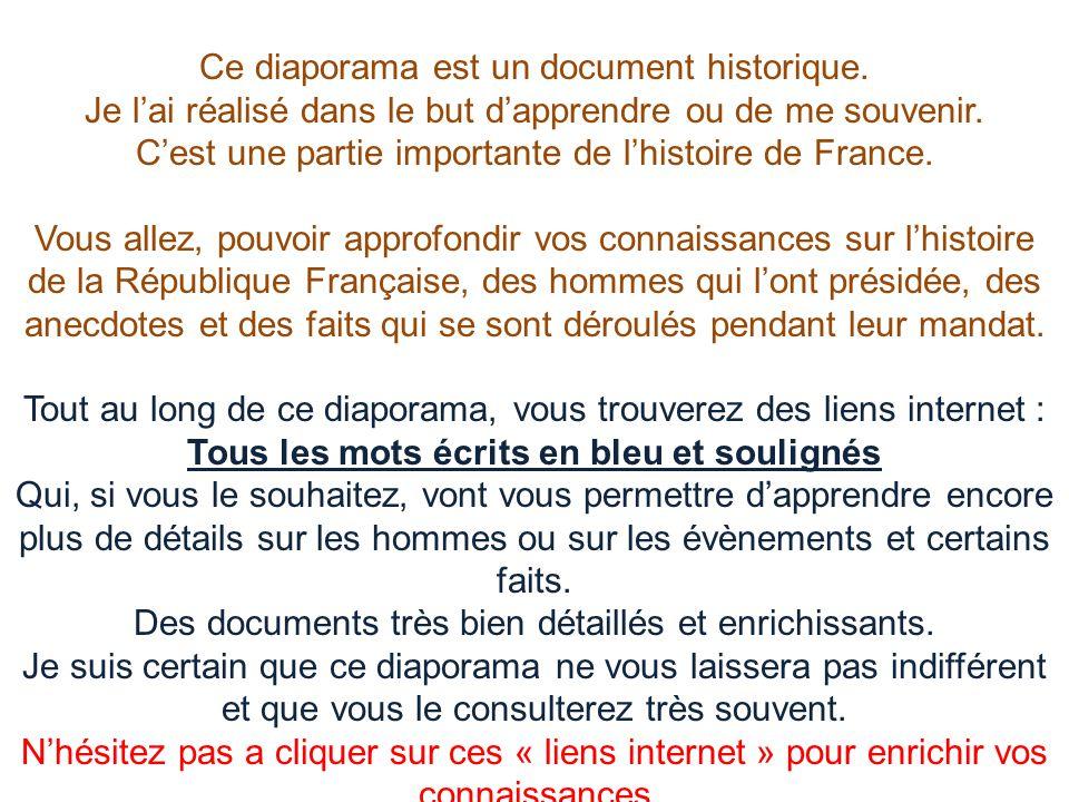 Ce diaporama est un document historique. Je l'ai réalisé dans le but d'apprendre ou de me souvenir. C'est une partie importante de l'histoire de Franc