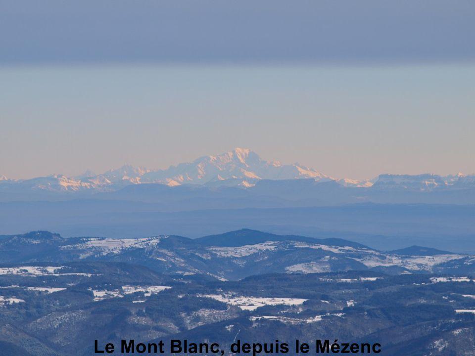 Le Mont Blanc, depuis le Mézenc
