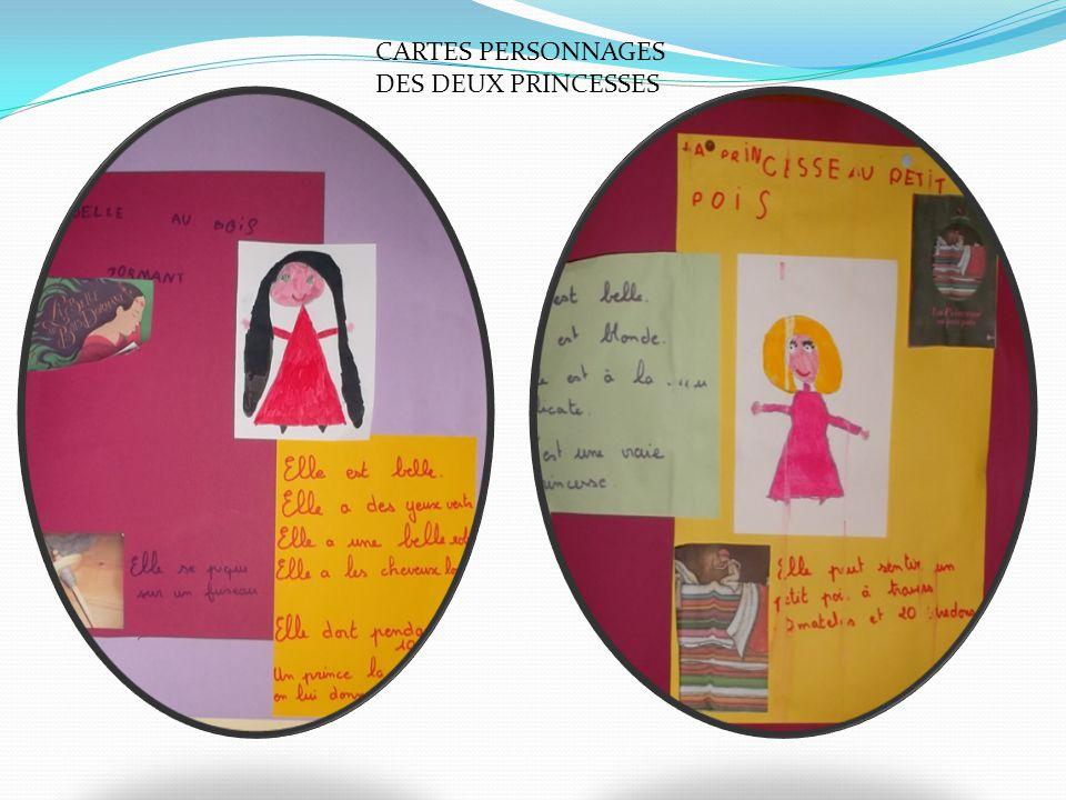 CARTES PERSONNAGES DES DEUX PRINCESSES