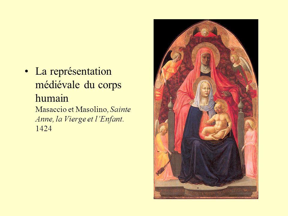 •La représentation médiévale du corps humain Masaccio et Masolino, Sainte Anne, la Vierge et l'Enfant. 1424