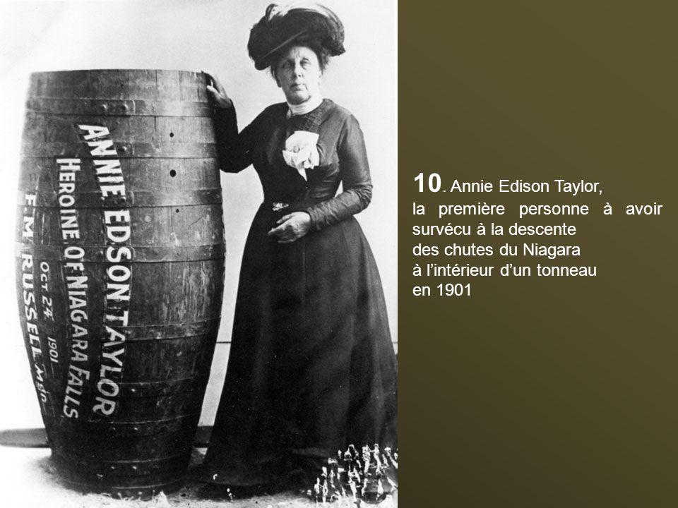 9. En 1907, pour faire la promotion du droit des femmes, Annette Kellerman porte le premier maillot de bain une pièce. Elle sera arrêtée pour indécenc