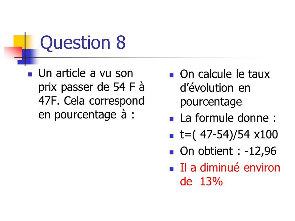 Question 7  On place un capital à intérêts composés pendant 12 ans au taux de 6% annuel.