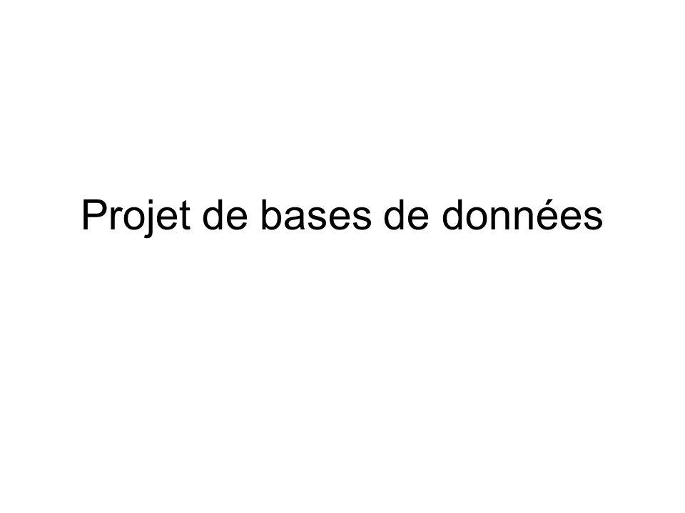 Projet de bases de données