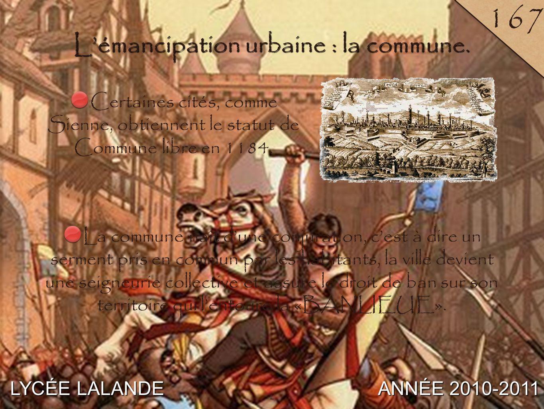 3 LYCÉE LALANDE ANNÉE 2010-2011 18 4 B / Une société urbaine hiérarchisée sous tension. 3
