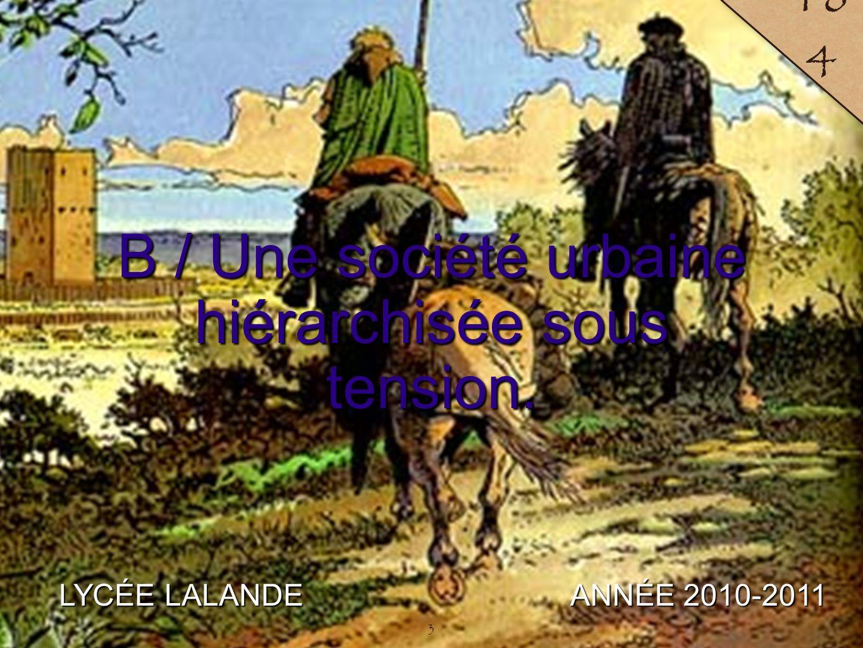 4 LYCÉE LALANDE ANNÉE 2010-2011 18 5 4 La hiérarchie urbaine.