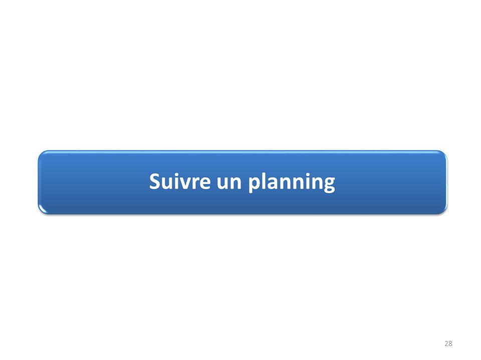 Suivre un planning 28
