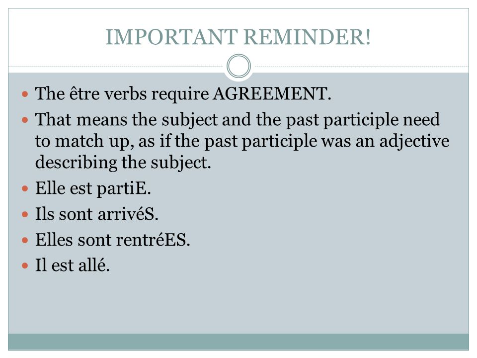 AGREEMENT W/ direct objects.