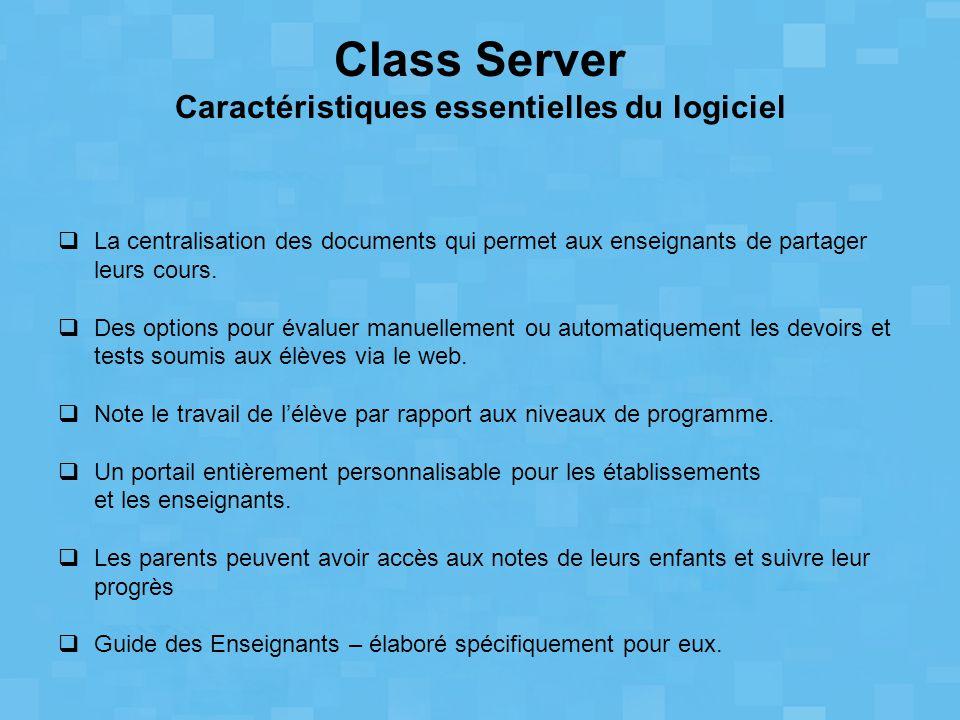 La centralisation des documents qui permet aux enseignants de partager leurs cours.  Des options pour évaluer manuellement ou automatiquement les d