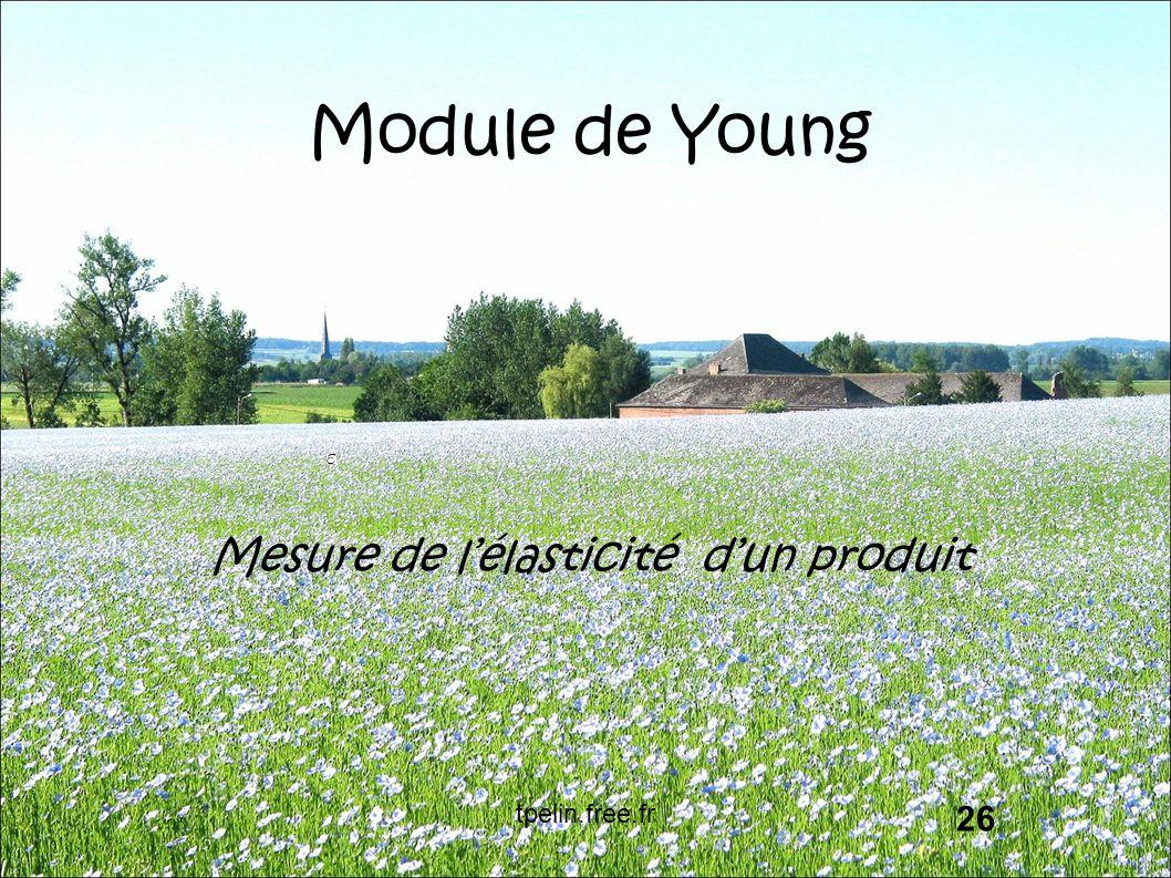 Module de Young Mesure de l'élasticité d'un produit 26 tpelin.free.fr