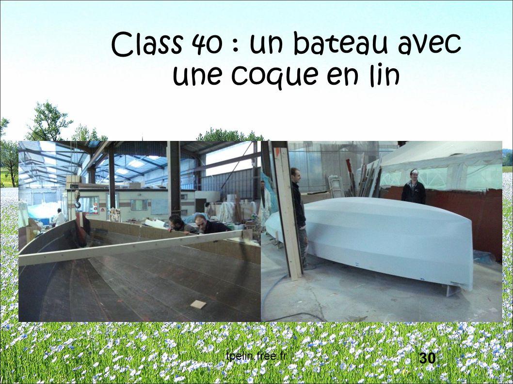 Class 40 : un bateau avec une coque en lin 30 tpelin.free.fr