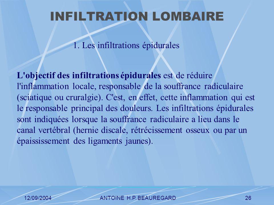 12/09/2004ANTOINE H.P. BEAUREGARD26 INFILTRATION LOMBAIRE 1.