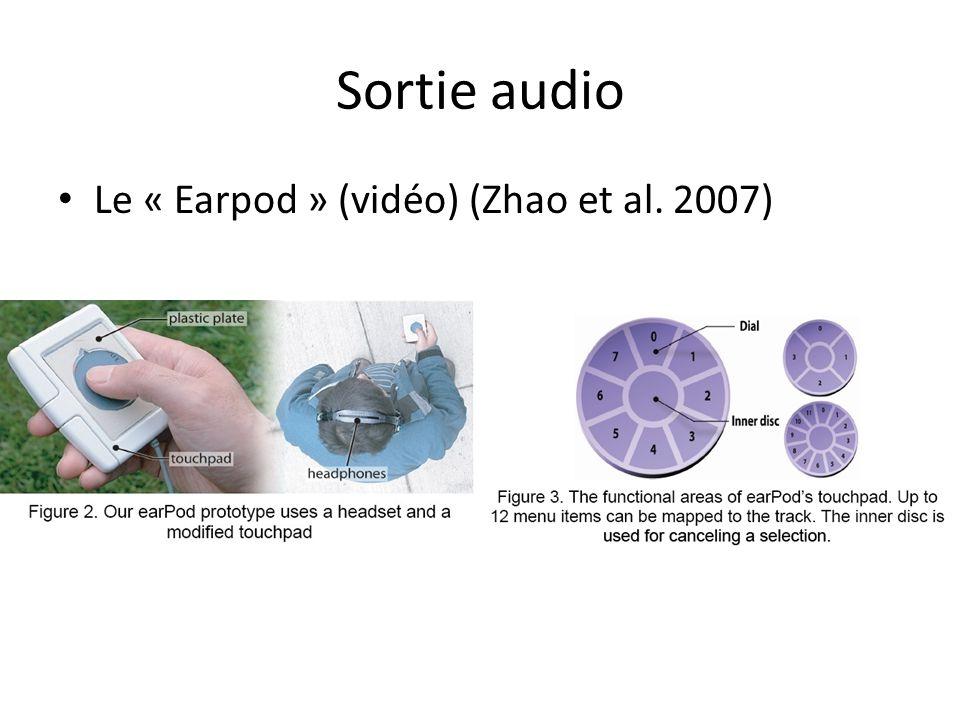 Sortie audio • Le « Earpod » (vidéo) (Zhao et al. 2007)