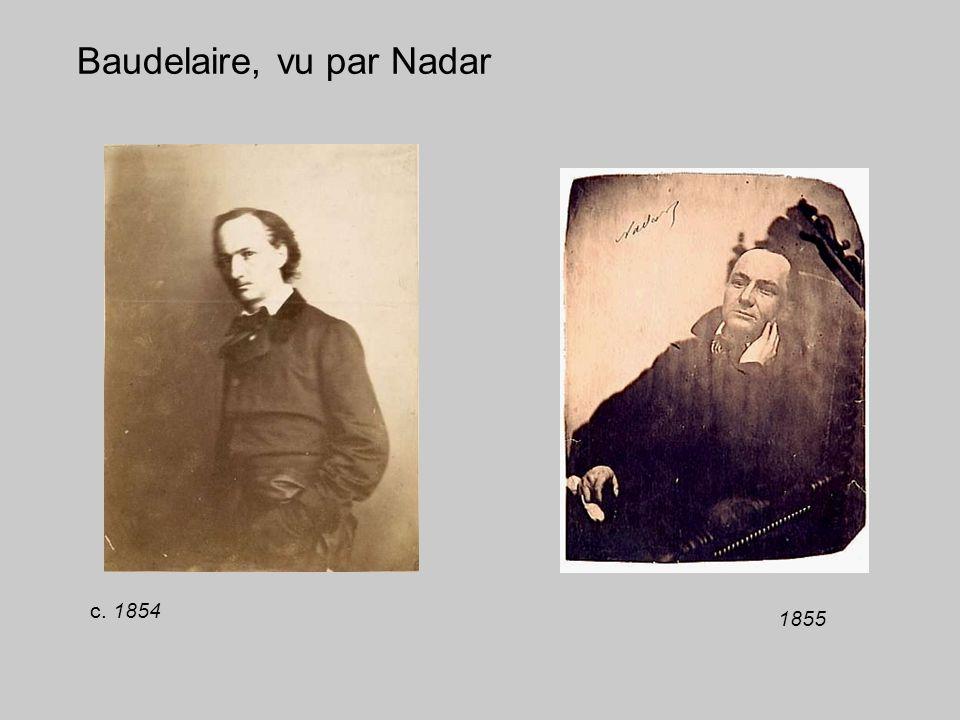 Baudelaire, vu par Nadar 1855 c. 1854
