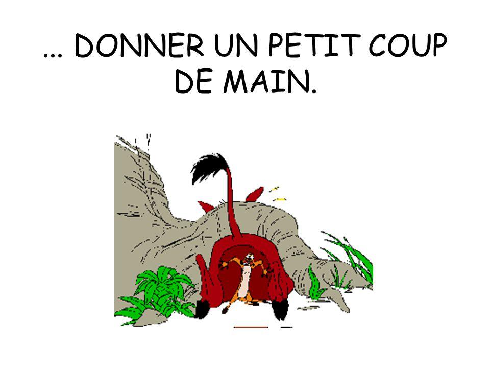 ... DONNER UN PETIT COUP DE MAIN.