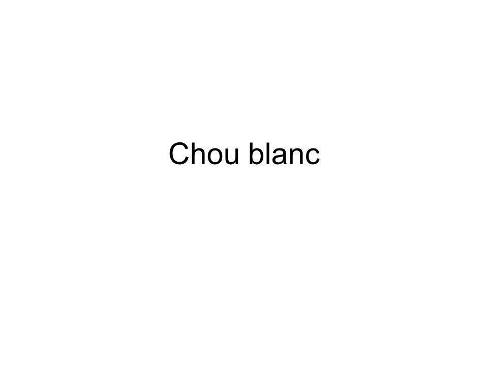 Chou blanc