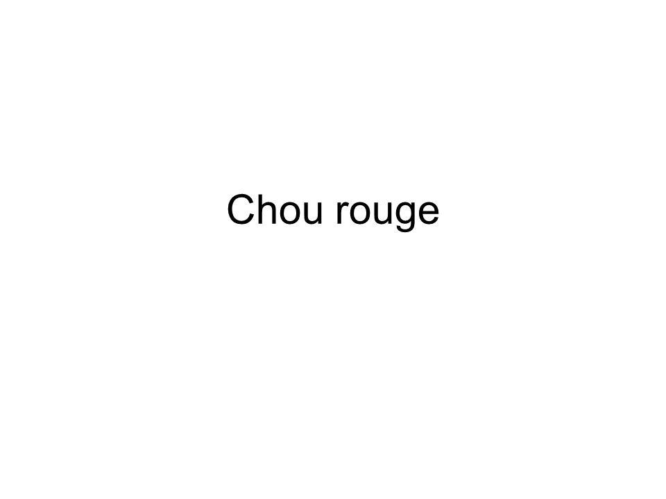 Chou rouge