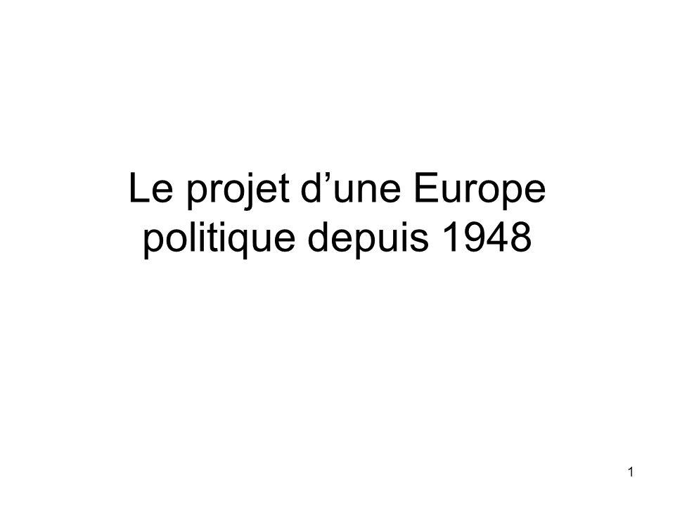 1 Le projet d'une Europe politique depuis 1948