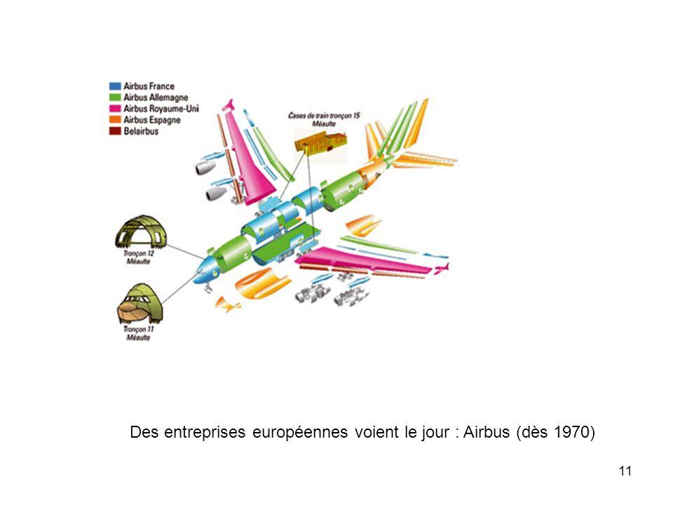 11 Des entreprises européennes voient le jour : Airbus (dès 1970)