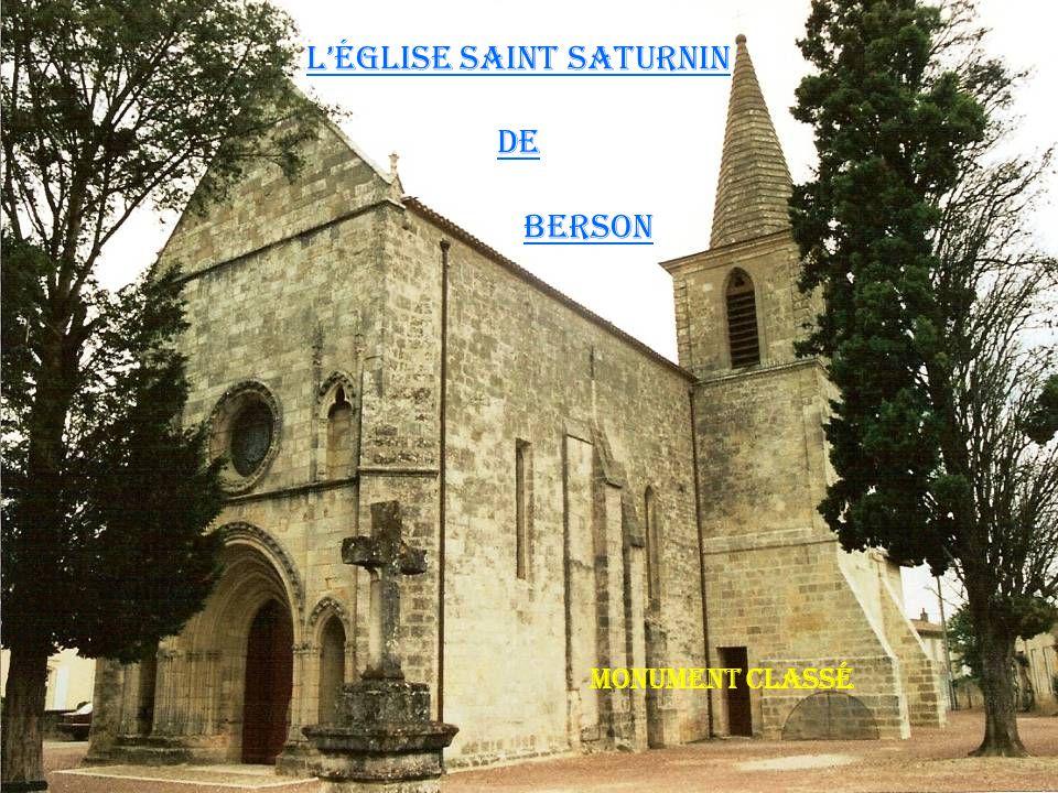 L'église saint saturnin De berson Monument classé