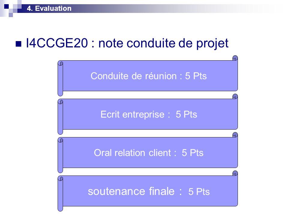 6 questions sur 2.5 Pts  I4ZHHS10 : note QSE 4. Evaluation soutenance finale : 5 Pts