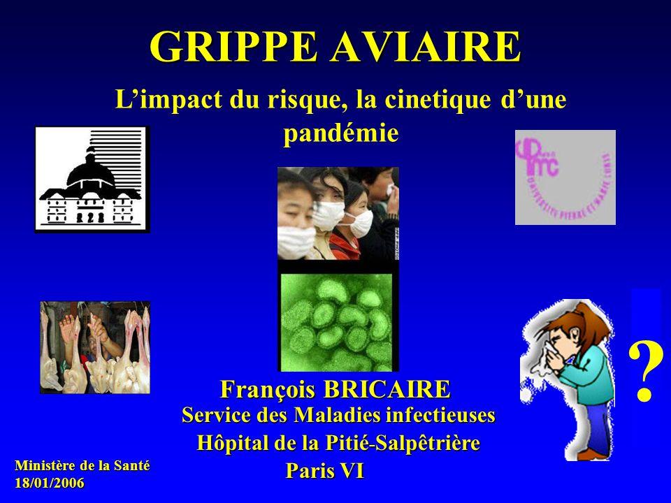 François BRICAIRE Hôpital de la Pitié - Salpêtrière Paris VI GRIPPE AVIAIRE Service des Maladies infectieuses .