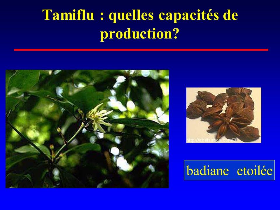 Tamiflu : quelles capacités de production? badiane etoilée