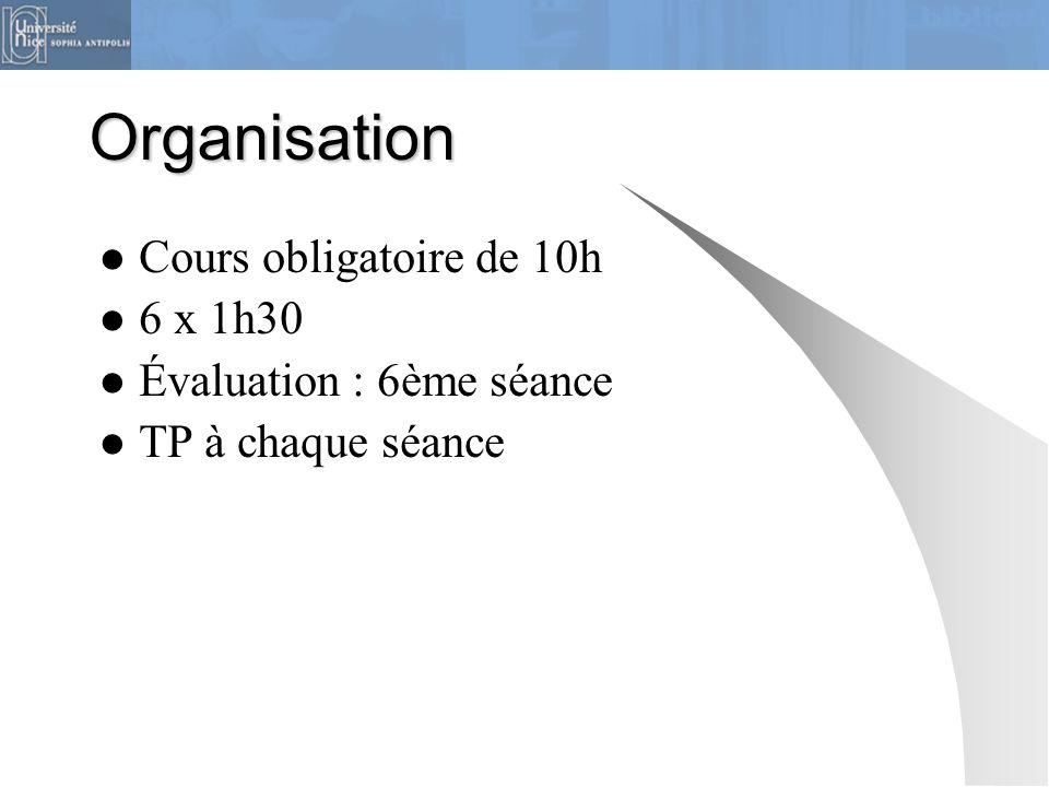 Plan du cours  Séance 1 : Généralités, le catalogue  Séance 2 : Éléments de méthode, les références juridiques  Séance 3 : Bases de données juridiques  Séance 4 : Base de données, suite  Séance 5 : Google, Légifrance, Eur-lex  Séance 6 : TP final