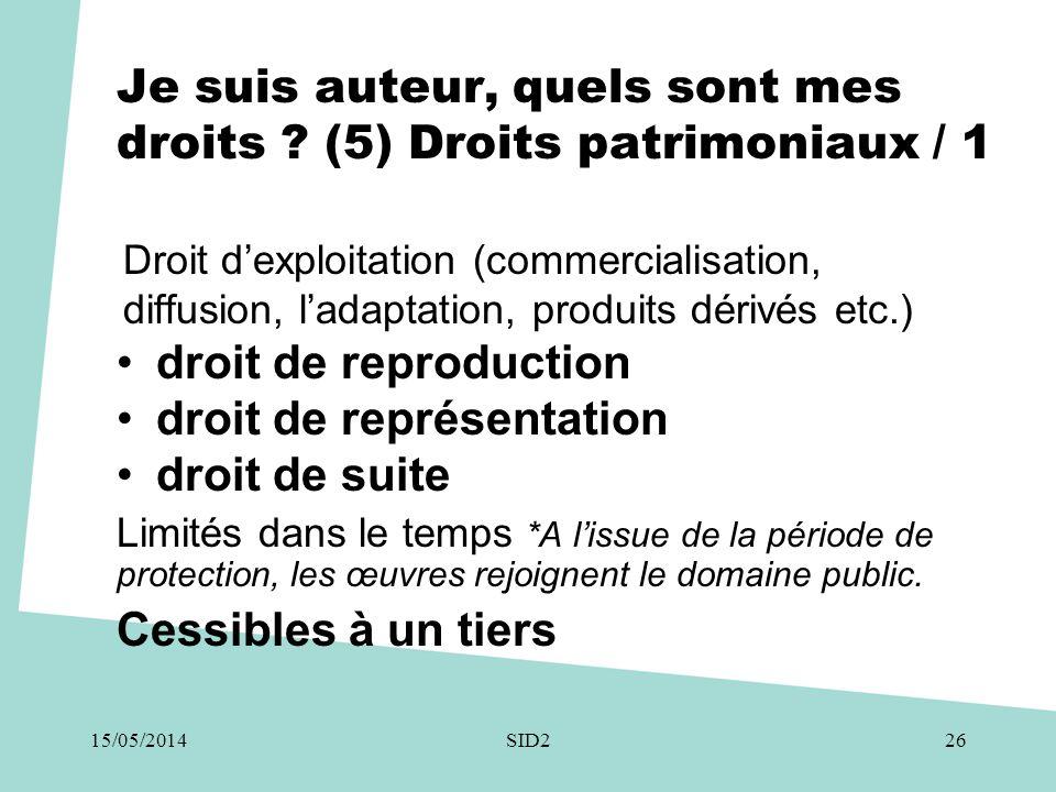 Je suis auteur, quels sont mes droits ? (5) Droits patrimoniaux / 1 Droit d'exploitation (commercialisation, diffusion, l'adaptation, produits dérivés