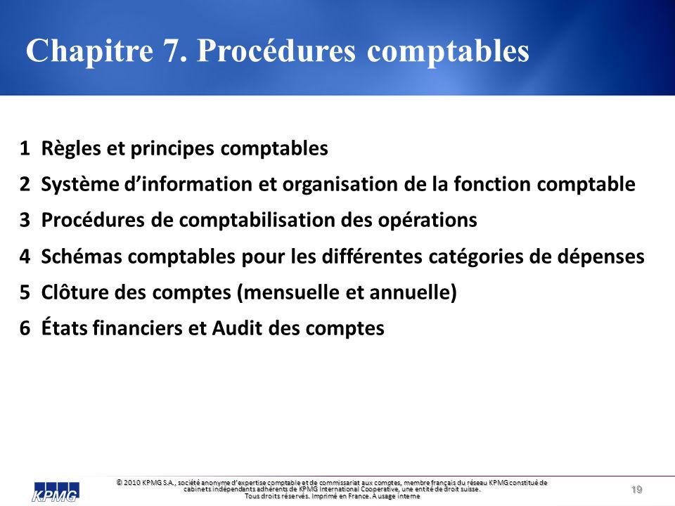 © 2010 KPMG S.A., société anonyme d'expertise comptable et de commissariat aux comptes, membre français du réseau KPMG constitué de cabinets indépendants adhérents de KPMG International Cooperative, une entité de droit suisse.