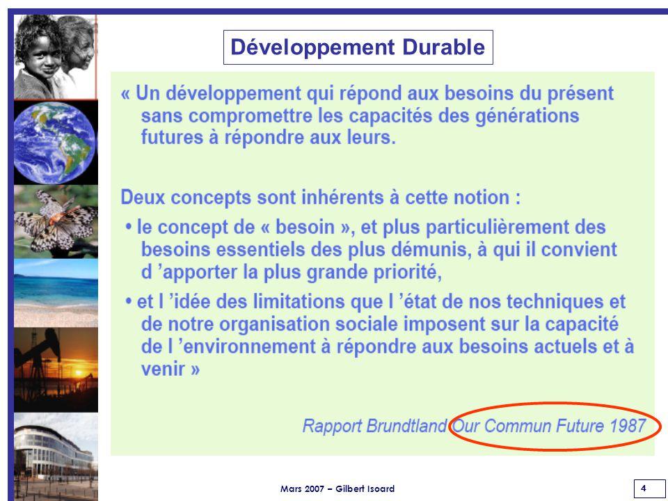 Mars 2007 – Gilbert Isoard 65 Email : gilbert.isoard@numericable.frgilbert.isoard@numericable.fr Gsm : 060 7676 309 SUIVICoordonnées