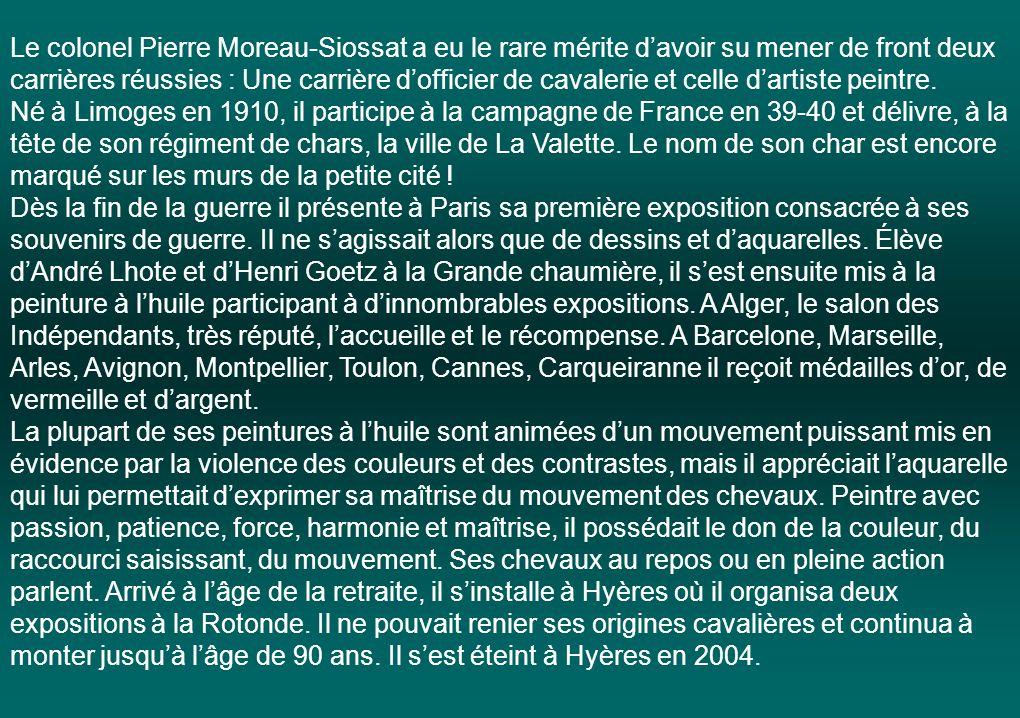 Dans le cadre du Salon des Artistes hyérois « Les Amis du musée » de HYERES rendent hommage à Pierre Moreau-Siossat Mettez le son et Cliquez pour avan