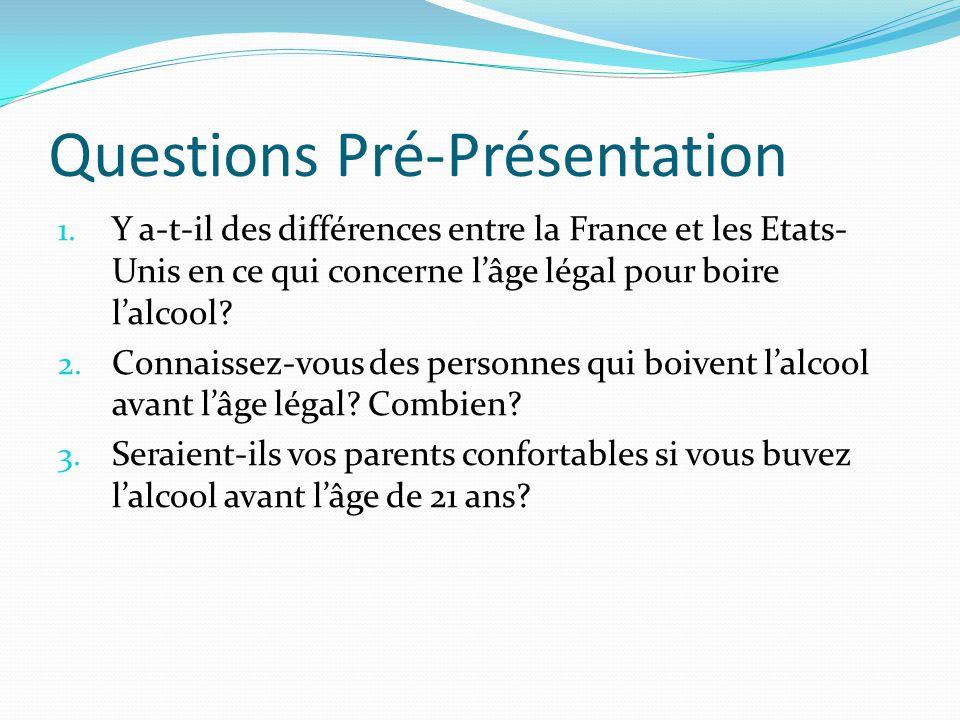 Questions Pré-Présentation 1.