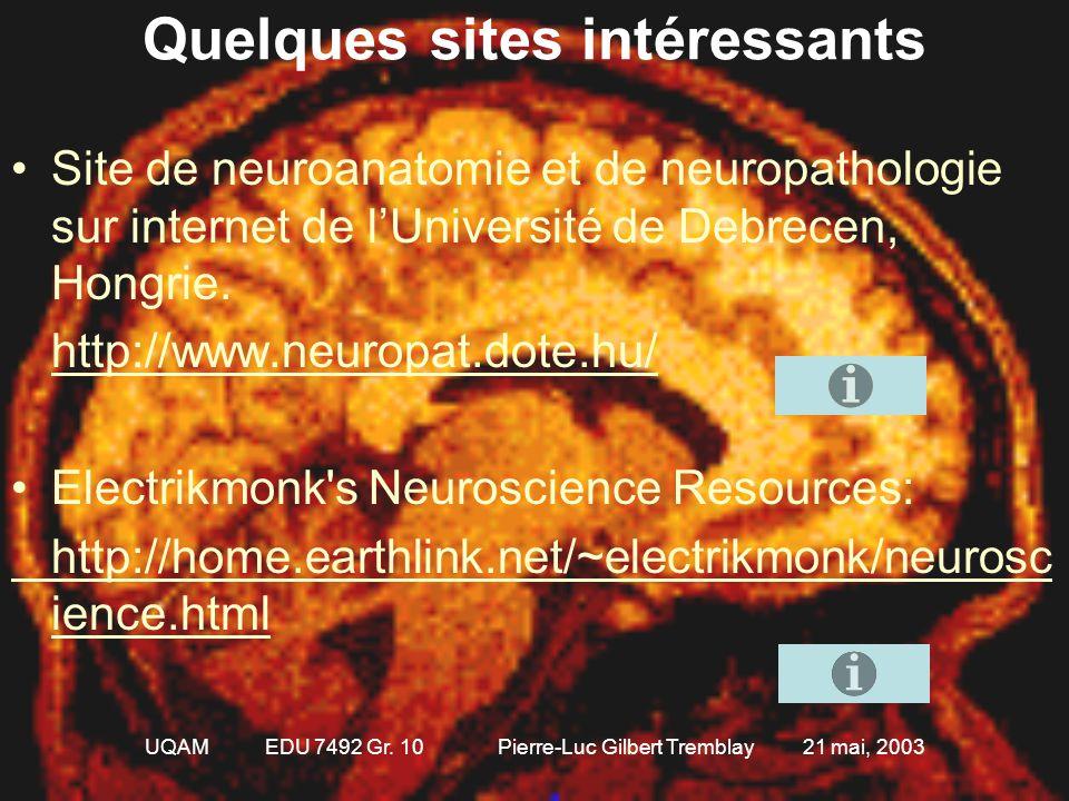 UQAM EDU 7492 Gr. 10 Pierre-Luc Gilbert Tremblay 21 mai, 2003 Questions!!! 1.Nommez les différents axes et identifiez quel est la coupe histologique: