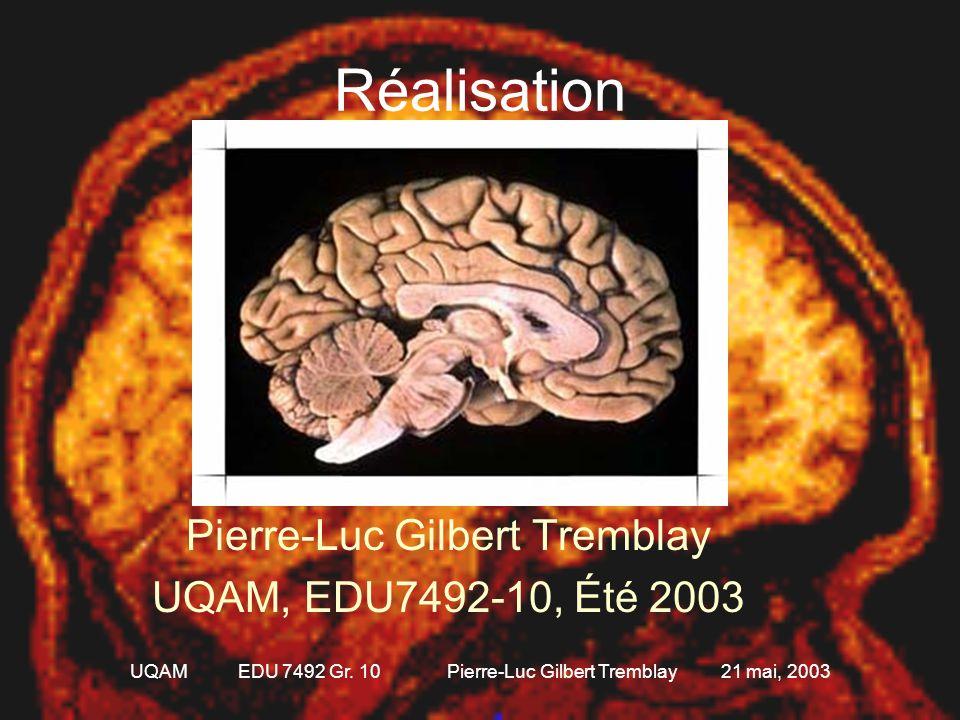 UQAM EDU 7492 Gr. 10 Pierre-Luc Gilbert Tremblay 21 mai, 2003 Quelques sites intéressants •Site de neuroanatomie et de neuropathologie sur internet de