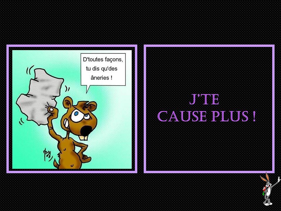 Ah, ça suffit Marmotte !