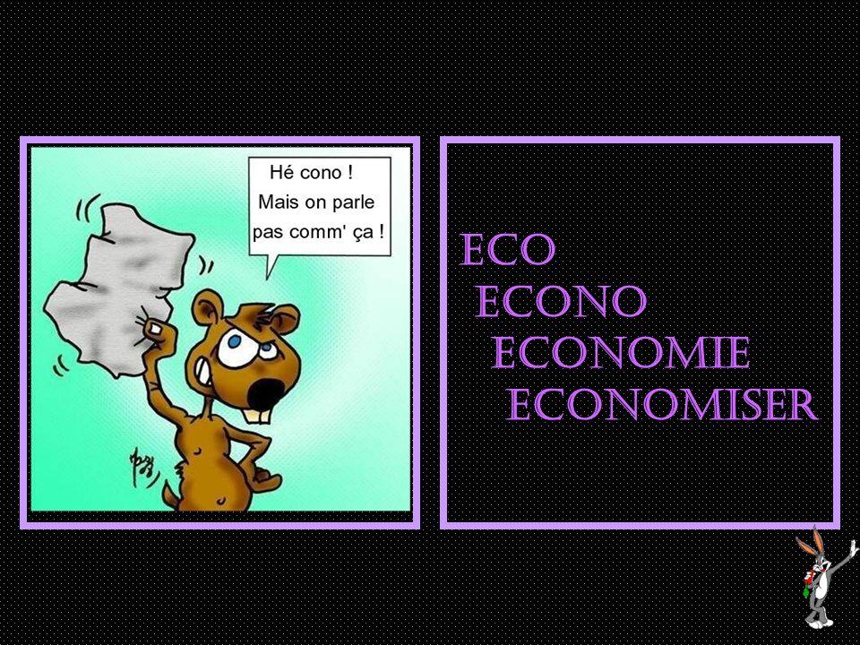 ECO ECONO ECONOMIe ECONOMISER