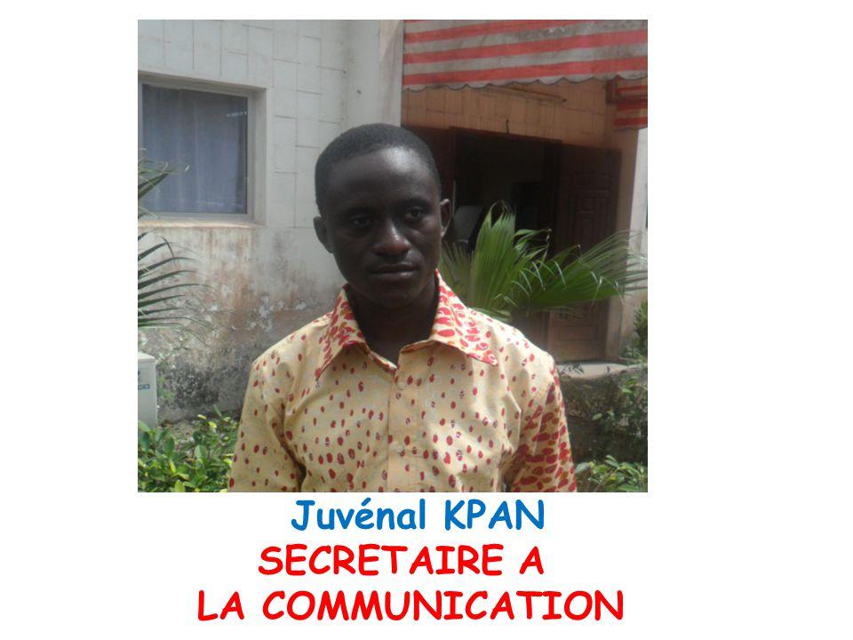 Juvénal KPAN SECRETAIRE A LA COMMUNICATION