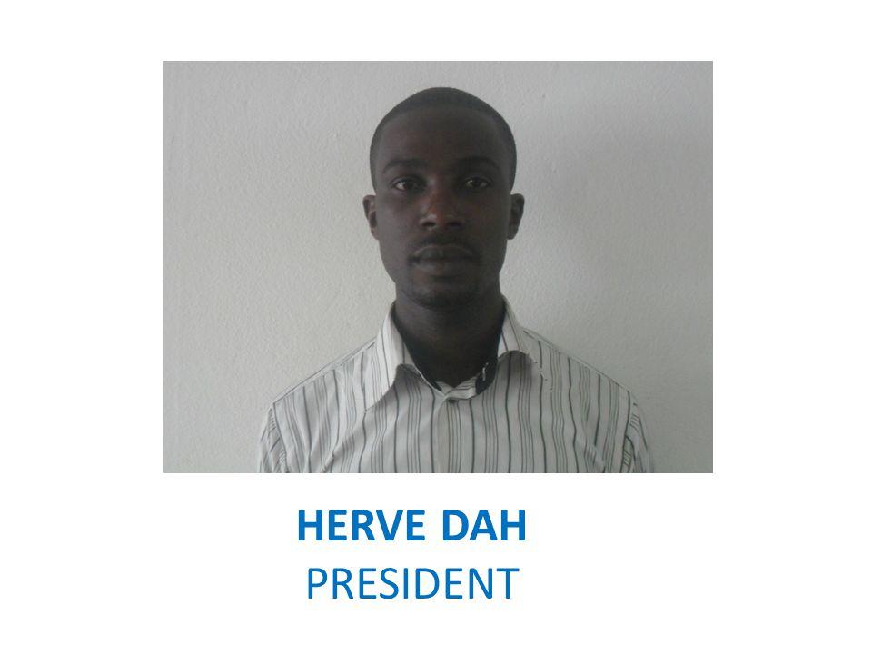 HERVE DAH PRESIDENT