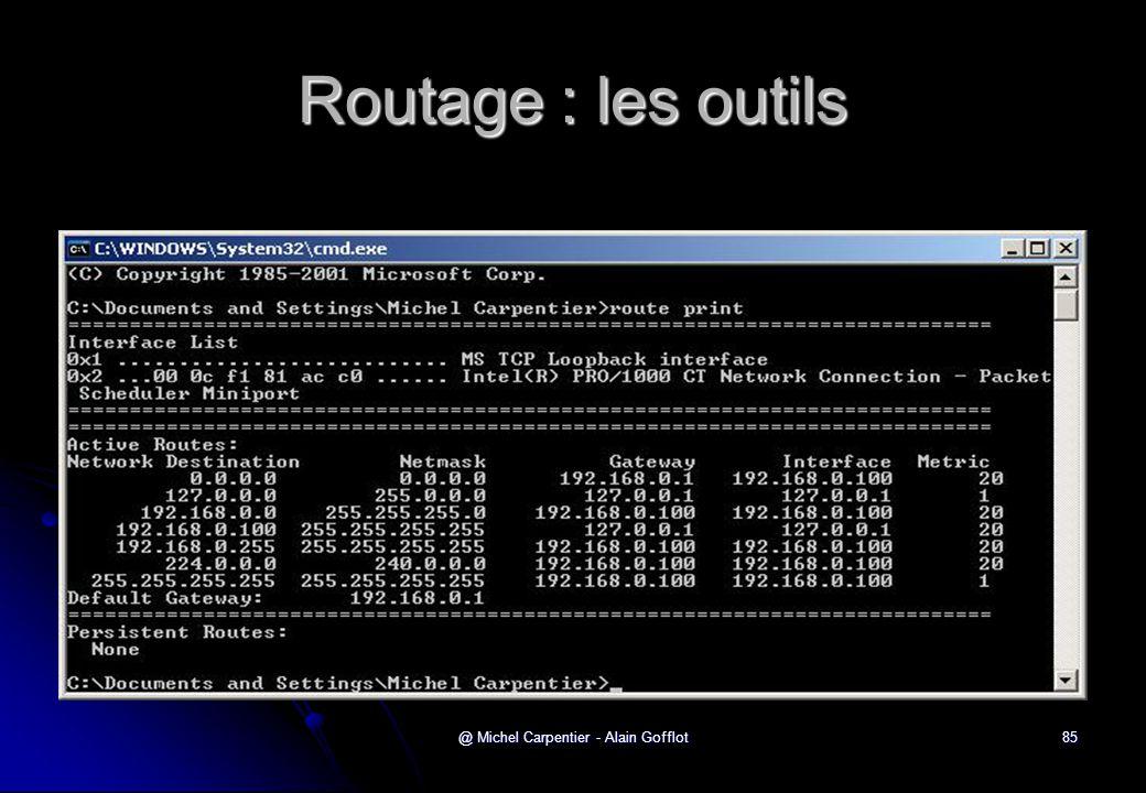 @ Michel Carpentier - Alain Gofflot85 Routage : les outils
