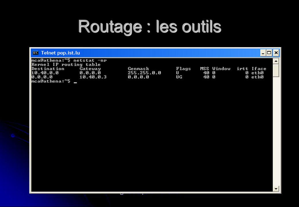 @ Michel Carpentier - Alain Gofflot86 Routage : les outils