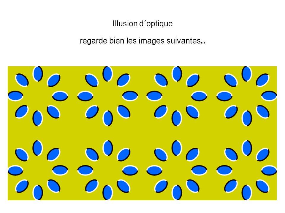 Illusion d´optique regarde bien les images suivantes..