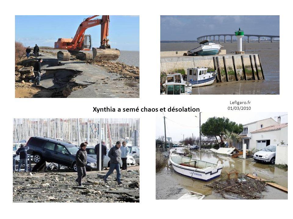 Xynthia a semé chaos et désolation Lefigaro.fr 01/03/2010