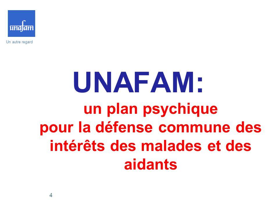Un autre regard 4 UNAFAM: un plan psychique pour la défense commune des intérêts des malades et des aidants