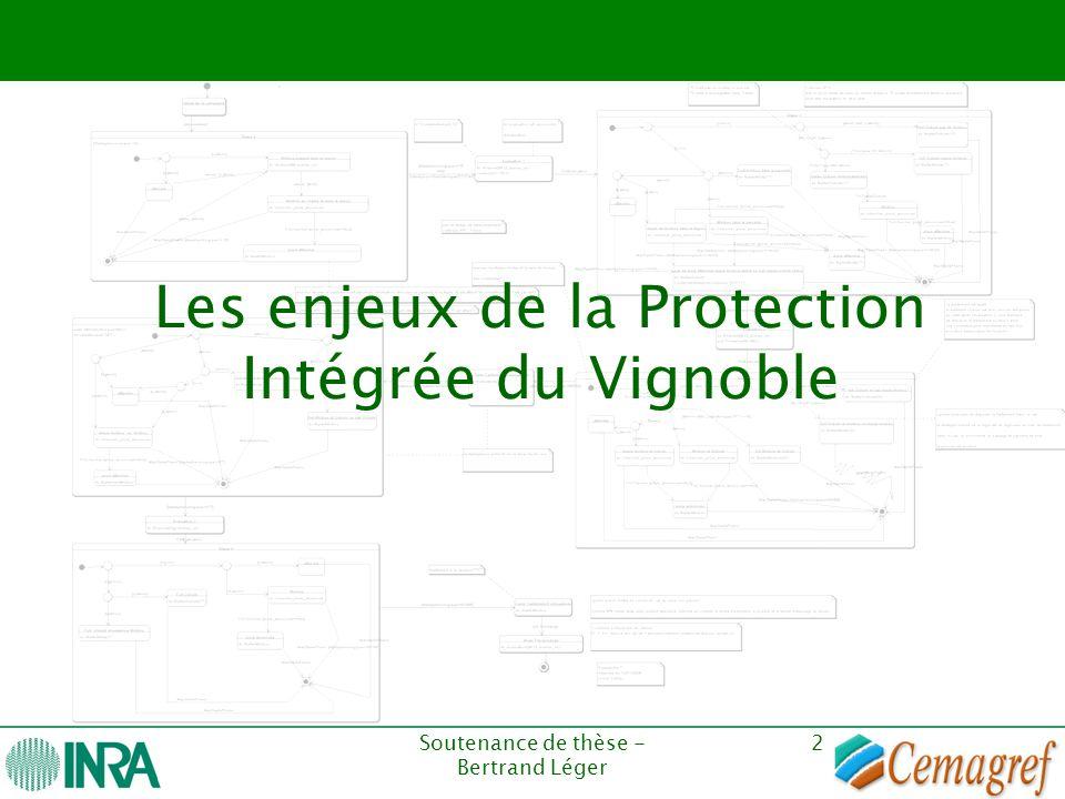 Soutenance de thèse - Bertrand Léger 2 Les enjeux de la Protection Intégrée du Vignoble