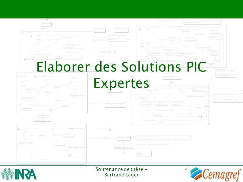 Soutenance de thèse - Bertrand Léger 4 Elaborer des Solutions PIC Expertes