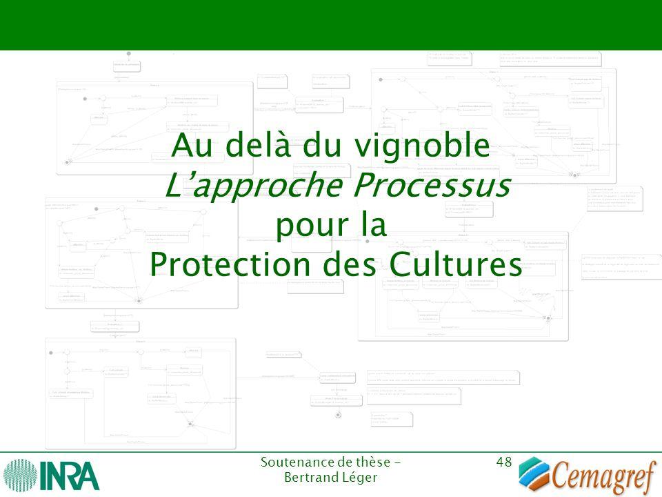 Soutenance de thèse - Bertrand Léger 48 Au delà du vignoble L'approche Processus pour la Protection des Cultures