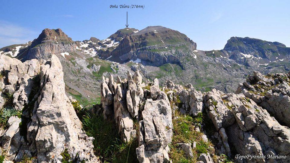 ........ Les Pics d'Enfer (3082m) Le Vignemale (3298m) Mont Perdu (3355m) Tendeñera (2853m)