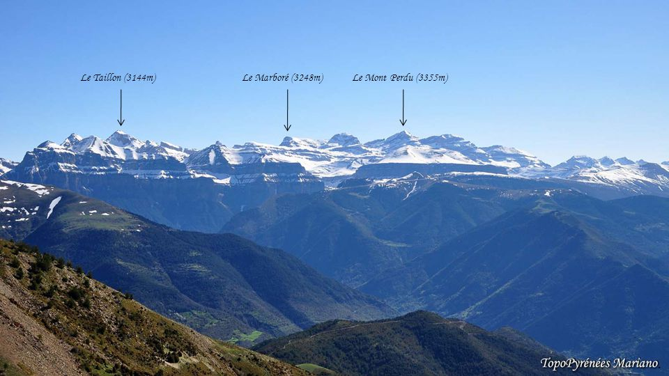 ........ Panorama depuis le Pic Aneto (3404m)